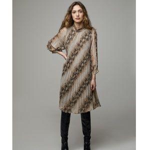 Oak + Fort Python Print Dress 4667 Size Small